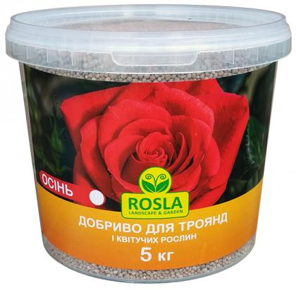 Комплексное минеральное удобрение для роз и цветущих TM ROSLA, 5кг, NPK 5.15.30, Осень, Arvi Fertis (Арви Фертис) фото