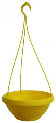Кашпо Лотос, D240мм, 2.6л, 240х140х100, желтый фото