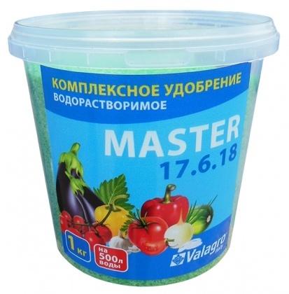 Комплексное минеральное удобрение Master (Мастер), 1кг, NPK 17.6.18, TM RosLa (Росла) фото