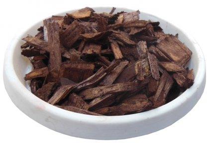 Щепа декоративная цветная, 50л, коричневая, квадратная фото