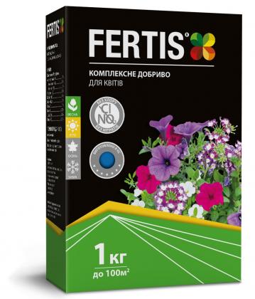 Комплексное минеральное удобрение для цветов Fertis (Фертис), 1кг, NPK 12.8.16+МЕ фото