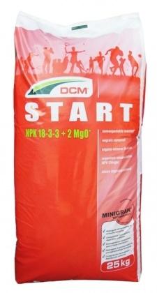 Органо-минеральное удобрение для газона DCM Start, 25кг, 18.3.3+ME, Весна, 3 мес. фото