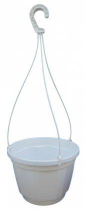 Кашпо с подвесом, FW23, 4.5л, 230х160, белый, Kloda (Клода) фото