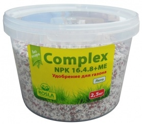 Комплексное минеральное удобрение для газона Complex (Комплекс), 2.5кг, NPK 16.4.8+ME, Лето, TM ROSLA (Росла) фото