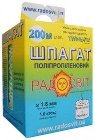 Шпагат полипропиленовый, 1.6 ктекс, 200 м/бобина фото