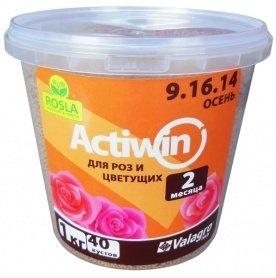 Комплексное минеральное удобрение для роз Actiwin (Активин), 1кг, NPK 9.16.14+ME, Осень, 2 мес., TM ROSLA (Росла)
