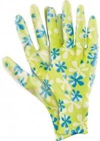 Перчатки садовые из полиэстера с нитриловым обливом, зеленые, размер M , Palisad, 677428 фото
