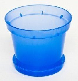 Горшок с поддоном для орхидей, D190, 2.5л, 190х135х155, синий фото