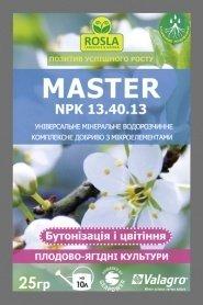 Комплексное минеральное удобрение для плодово-ягодных культур, бутонизация и цветение,  Master (Мастер), 25г, NPK 13.40.13, TM ROSLA (Росла) фото