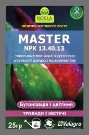 Комплексное минеральное удобрение для роз и цветущих, бутонизация и цветение, Master (Мастер), 25г, NPK 13.40.13, TM ROSLA (Росла) фото