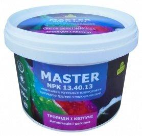 Комплексное минеральное удобрение для роз и цветущих, бутонизация и цветение, Master (Мастер), 300г, NPK 13.40.13, TM RosLa (Росла) фото