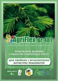 Комплексное минеральное удобрение для хвойных и вечнозеленых AgriFlex Br-481 (Агрифлекс Бр-481), 4г, Agrisol (Агрисол) фото