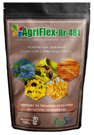 Комплексное минеральное удобрение для зерновых и технических культур AgriFlex Br-481 (Агрифлекс Бр-481), 100г, Agrisol (Агрисол) фото