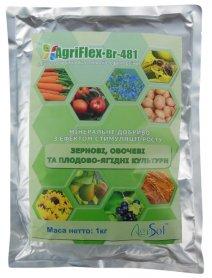 Комплексное минеральное удобрение для зерновых, овощных и плодово-ягодных культур AgriFlex Br-481 (Агрифлекс Бр-481), 1кг, Agrisol (Агрисол) фото