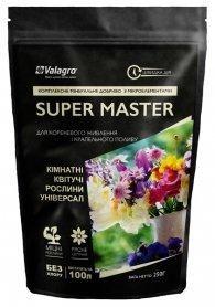 Комплексное минеральное универсальное удобрение для комнатных цветущих растений Super Master (Супер Мастер), 250г, NPK 20.20.20, Valagro (Валагро) фото