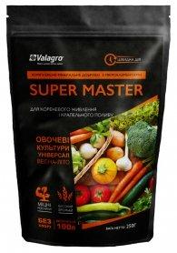 Комплексное минеральное универсальное удобрение для овощных культур Super Master (Супер Мастер), 250г, NPK 17.6.18, Весна-Лето, Valagro (Валагро) фото