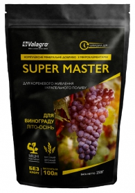 Комплексное минеральное удобрение для винограда Super Master (Супер Мастер), 250г, NPK 3.11.38, Лето-Осень, Valagro (Валагро) фото