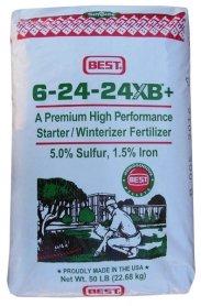 Комплексное минеральное удобрение Best (Бэст), 22.7кг, NPK 6.24.24 XB+, Осень, Simplot (Симплот) фото