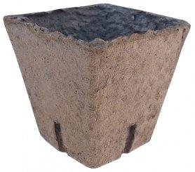 Стаканчик торфяной квадратный, 8х8см, уп. 20шт, TM RosLa (Росла) фото