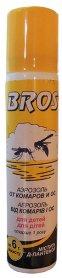 Аэрозоль от комаров и ос для детей, 90мл, BROS фото