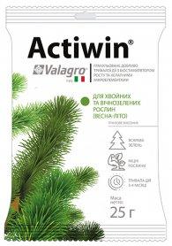 Комплексное минеральное удобрение для хвойных и вечнозеленых растений Actiwin (Активин), 25г, NPK 12.5.20, Весна-Лето, Valagro (Валагро) фото
