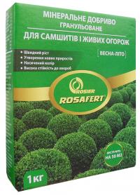 Комплексное минеральное удобрение для самшита и живой изгороди Rosafert (Росаферт), 1кг, NPK 12.12.17, Весна-Лето, Rosier SA фото