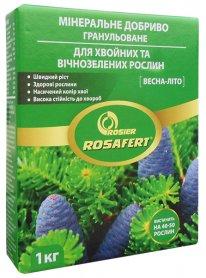 Комплексное минеральное удобрение для хвойных и вечнозеленых растений Rosafert (Росаферт), 1кг, NPK 12.12.17, Весна-Лето, Rosier SA фото