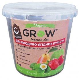 Органическое удобрение для плодово-ягодных культур ТМ Grow (Multimix bio), 1кг, Весна-Лето фото