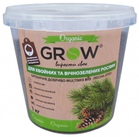 Органическое удобрение для хвойных и вечнозеленных культур ТМ Grow (Multimix bio), 1кг, Весна-Лето фото