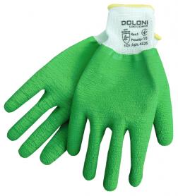 Перчатки латексные с полным обливом ладони, Doloni, 4526 фото