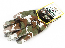 Перчатки с нитриловым обливом ладони (камуфляж), Doloni, 4551 фото