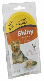 Влажный корм для собак Gimpet Shiny Dog с курицей, 2х85г  фото