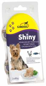 Влажный корм для собак Gimpet Shiny Dog с курицей и тунцом, 2х85г  фото
