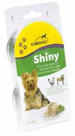 Влажный корм для собак Gimpet Shiny Dog с курицей и ягненком, 2х85г  фото