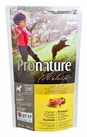 Сухой корм для щенков Pronature Holistic Puppy со вкусом курицы и батата, 0.34кг фото