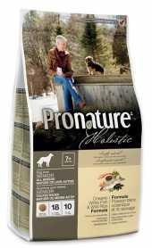 Сухой корм для пожилых собак Pronature Holistic Senior со вкусом океанической белой рыбы и дикого риса, 2.72кг фото