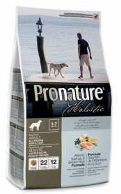 Сухой корм для взрослых собак Pronature Holistic Adult со вкусом атлантического лосося и коричневого риса, 2.72кг фото