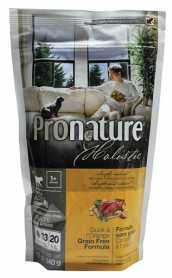 Сухой корм для взрослых собак Pronature Holistic Adult со вкусом утки и апельсинов, 0.34кг фото
