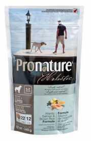 Сухой корм для взрослых собак Pronature Holistic Adult со вкусом атлантического лосося и коричневого риса, 0.34кг фото