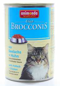 Влажный корм для кошек Animonda Brocconis с сайдой и птицей, 400г фото