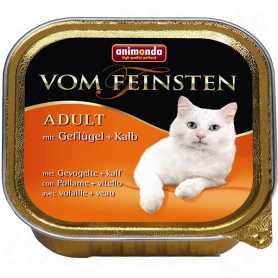 Влажный корм для кошек Animonda vom Feinsten Adult с птицей и телятиной, 100г фото