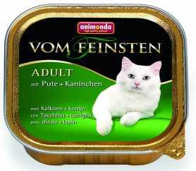 Влажный корм для кошек Animonda Vom Feinsten классик с индейкой и кроликом, 100г фото