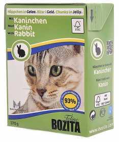 Влажный корм для котов Bozita мясные кусочки в желе с кроликом, 370г фото