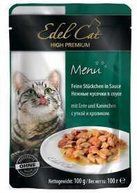 Влажный корм для кошек Edel Cat с кроликом и уткой в соусе, 100г фото
