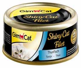 Влажный корм для кошек GimCat ShinyCat Filet кусочки тунца и анчоусов в бульоне, 70г фото