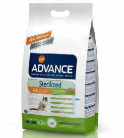 Сухой корм для стерилизованых котов Advance Cat Sterilized с индейкой и ячменем, 400г фото
