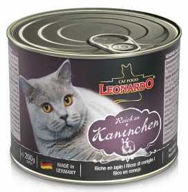 Влажный корм для кошек Leonardo с мясом кролика, 200г фото