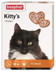 Лакомство для кошек Beaphar Kitty's + Protein, 75табл. фото