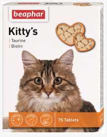Лакомство для кошек Beaphar Kitty's + Taurine-Biotine, 75табл. фото