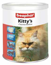 Лакомство для кошек Beaphar Kitty's + Taurine-Biotine, 750табл. фото